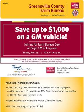 GM Farm Bureau Day Flier 1