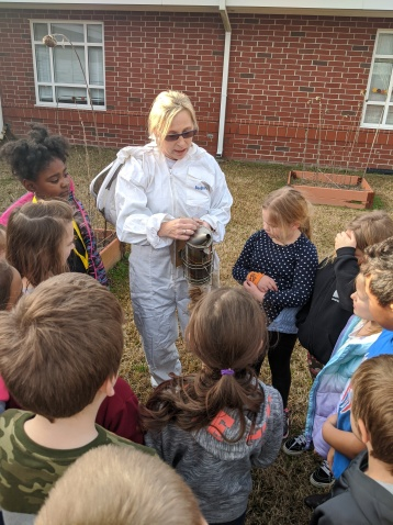 learning about bee keepers